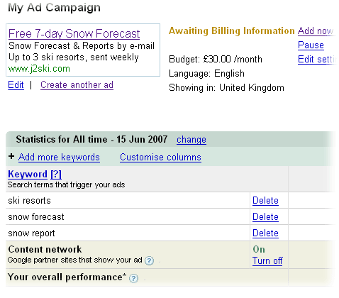 Adwords Report